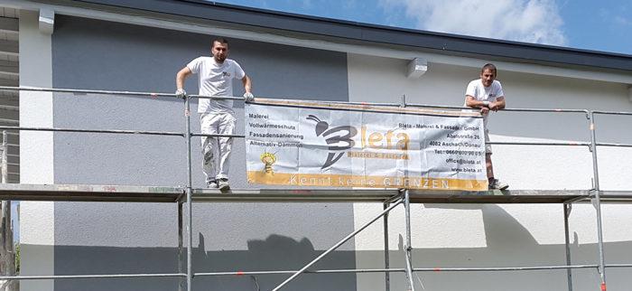 Bleta, Ihr Maler Oberösterreich, bei der Arbeit